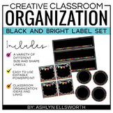Editable Labels - Black and Bright