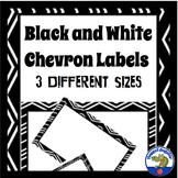 Black and White Editable Labels Chevron Classroom Decor