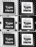 Editable Labels - Black and White Labels