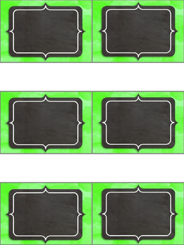 Editable Labels - Bright Chalkboard
