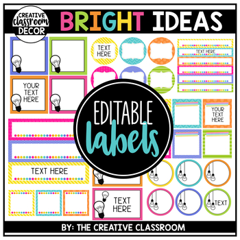 Editable Labels - Bright Ideas