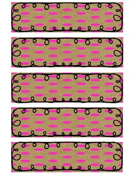 Editable Labels - Burlap Polka Dots