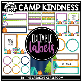 Editable Labels - Camping Theme