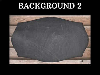 Editable Labels - Chalkboard on Wood : Rectangle