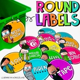 Editable Labels   Circular Labels   Classroom Decor