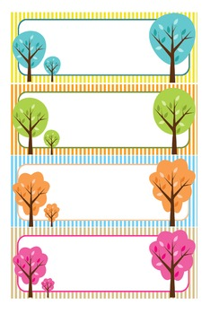 Editable Labels : Colorful Trees on Stripes