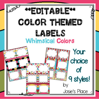 Editable Labels Dr. S Inspired Colors