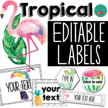Tropical Labels EDITABLE