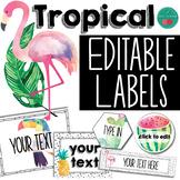 EDITABLE Labels Tropical Theme