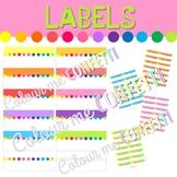 Editable Labels - Etiquetas - Colour me Confetti