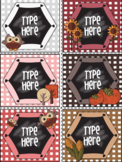 Editable Labels - Fall Labels