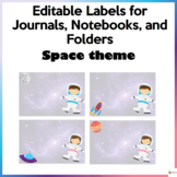 Editable Labels For Journals, Notebooks, and Folders Space Theme