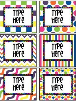 Editable Labels-Free