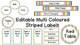Editable Labels Galore - Multi Coloured Striped Edition