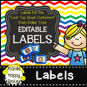 """Editable Chevron Labels ~ Labels for the """"Snack Containers"""