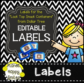 """Chevron Editable Labels ~ Labels for the """"Snack Containers"""