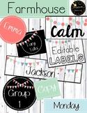 Editable Labels / Library Labels - Farmhouse Calm --10 Designs!!