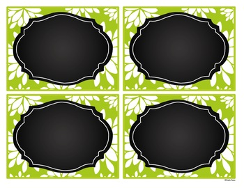 Editable Labels - Lovely Lime with Chalkboard