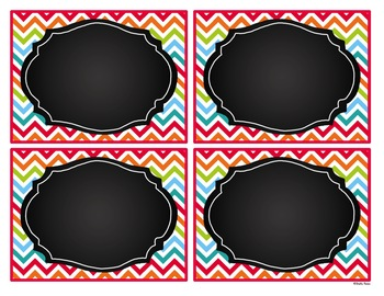 Editable Labels - Magnificent Multicolored with Chalkboard