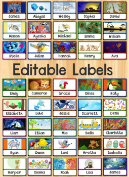 Editable Name Tags - Labels