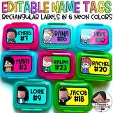 Editable Labels   Neon Colors   Rectangular Labels