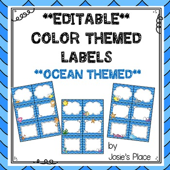 Editable Labels Ocean Theme