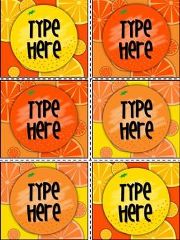 Editable Labels - Orange Labels