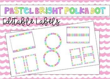 Editable Labels - Pastel Brights