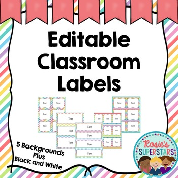 Editable Labels: Pastels