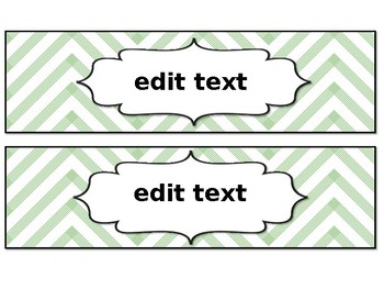 Editable Labels (Perfect for Copy, File, Grade drawers!)