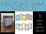 Editable Labels for Sterilite Drawers