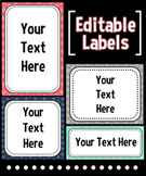 EDITABLE Labels - Pink, Teal, Gray, & Navy