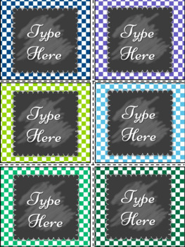 Editable Labels-Blue and Green Labels