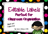 Editable Labels Polka Dot Theme