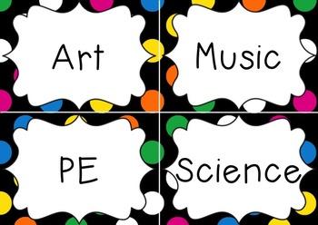 Editable Labels Polka Dot Theme