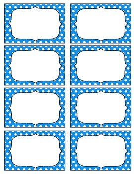 Editable Labels--Polka Dots                        Microsoft Word Document