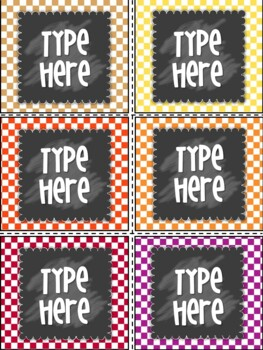 Editable Labels- Polka dot Labels