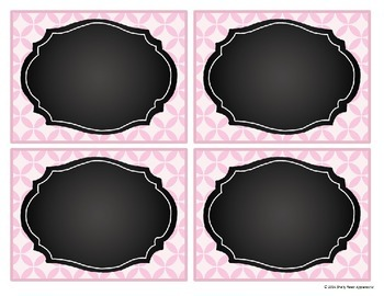 Editable Labels - Pretty Pink with Chalkboard