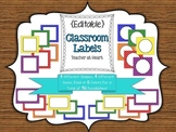 {Editable} Labels - Primary Polka Dots