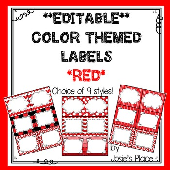 Editable Labels RED