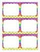 Editable Labels: Rainbow Chevron