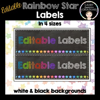 Editable Labels (Rainbow Stars)