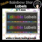 Editable Labels (Rainbow Stars)