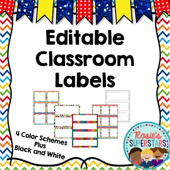 Editable Labels: Rainbow Theme