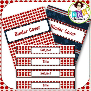 Editable Labels - Red & Blue Set 1B