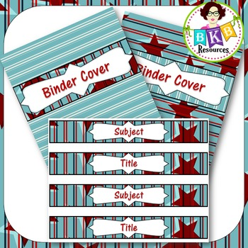 Editable Labels - Red & Blue Set 3A