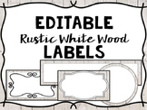 Editable Labels - Rustic White Wood