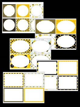 Editable Labels Set : Busy Bee, Bees, tags, signs