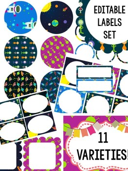 Editable Labels Set : Outer Space - Set 2