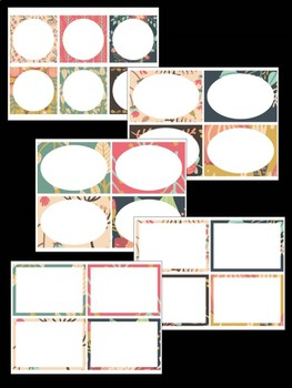 Editable Labels Set : Woodland Country Florals